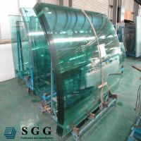 Hot sell double curve tempered glass