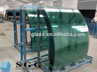High quality 10mm clear bent tempered glass