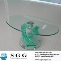 Offer clear tempered glass top