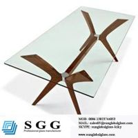 custom tempered glass table top