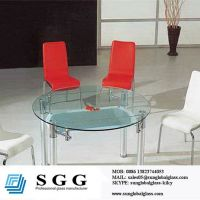 24 round glass table top