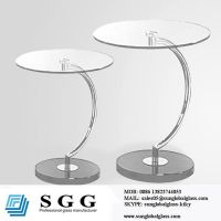 glass table tops round