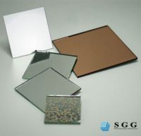 High quality aluminum coated mirror glass