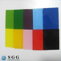 Top quality 8mm painted tempered glass