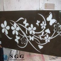 Top quality 12mm silk screen tempered glass