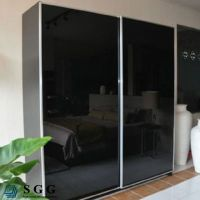 Top quality 4mm black painted glass