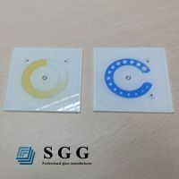 Top quality 4mm painted tempered glass