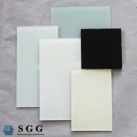 Top quality 10mm painted tempered glass