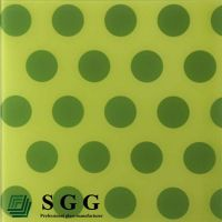 Top quality 6mm silk screen tempered glass