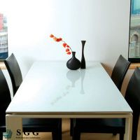 Top quality 5mm lacquered glass for dining table
