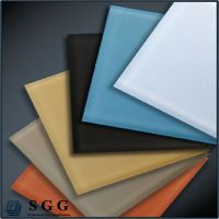 Top quality 4mm spray painted  glass