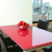 Top quality 6mm lacquered glass for dining table