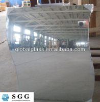 High quality wavy mirror glass