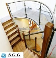 High quality curved glass balustrade