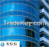 High quality curved glass curtain wall