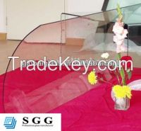 High quality tinted curved glass