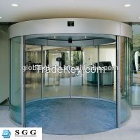 High quality curved glass door