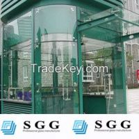 High quality curved glass for curtain wall