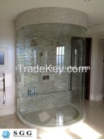 High quality curved glass shower door