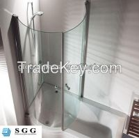 High quality curved glass shower screen