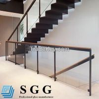 clear toughened glass balustrade, 6mm 8mm 10mm 12mm 15mm 19mm