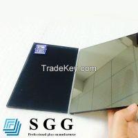 Dark grey reflective glass, thickness 4mm 5mm 5.5mm 6mm 8mm 10mm 12mm