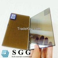 euro bronze reflective glass, thickness 4mm 5mm 5.5mm 6mm 8mm 10mm 12mm