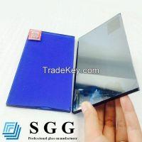 Dark blue reflective glass, thickness 4mm 5mm 5.5mm 6mm 8mm 10mm 12mm