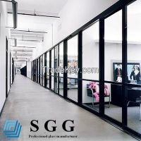 clear toughened glass partition, 6mm 8mm 10mm 12mm 15mm 19mm