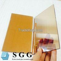 Gold bronze reflective glass, thickness 4mm 5mm 5.5mm 6mm 8mm 10mm 12mm