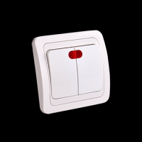 european wall switch with light