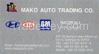 auto spare parts for korean  vehicles