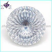 Popular low price round shape white synthetic cz gemstones