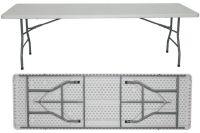 8ft HDPE folding table