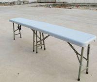 plastic folding in half bench