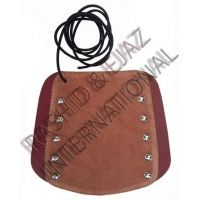 TRADITIONAL LEATHER ARCHERY ARM GUARD AGSA-8420 (19cm LONG x 20cm WIDE) ADULT