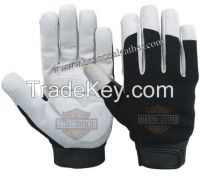 White mechanic gloves, Mechanical working gloves, PU leather Mechanic Gloves
