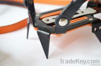Ten teeth technology-based full- strapped climbing crampons