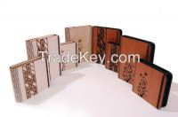 Laser cut wooden paper block holder with butterfly design