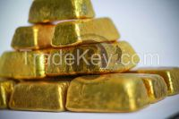 GOLD BARS AND ROUGH DIAMONDS