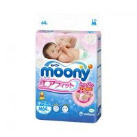 Moony Baby Diapers Tape Type Medium Size 64 (6-11kg)