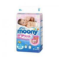 Moony Baby Diapers Tape Type Small Size 84 (4-8kg)
