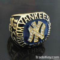New Fashion Gold Plated Yankees Charmpionship Ring Wholesale Design