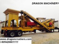 Mobile crushing and screening plant dragon crusher for sale