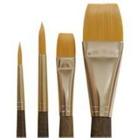 Artist brushes, oil brush and watercolor brush