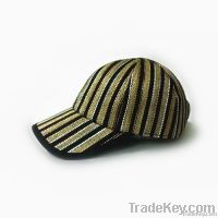 Leisure Khaki and brown color mixing PP straw hats for ladies and men