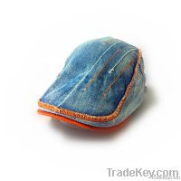 The latest fashion denim beret hats for men