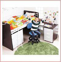 Nice Design Single Beds With Computer Desk ZA-GYC-23-02
