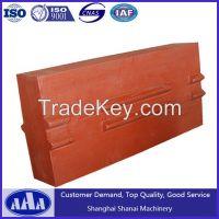SHANBAO PF1315 BLOW BAR impact crusher parts impact crusher blow bars high chrome blow bars manufacturers