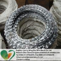 Factory Hot dip Galvanized Razor wire/ PVC coated Razor Barbed Wire/Co